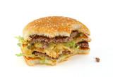 half-eaten delicious hamburger poster