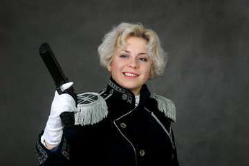 woman with the gun