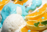 closeup of vanilla ice cream dessert poster