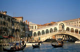 Fototapety Venedig, Rialtobrücke, Canal Grande, Gondeln, Copy space