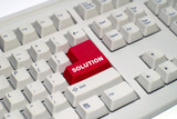 keyboard with -solution- button poster