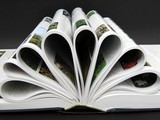 abstract,shape.book about flowers.pages as petals poster