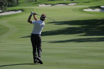 golf swing in valderrama, spain