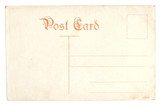 old antique empty postcard poster