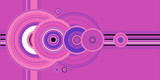 crop circle pink poster