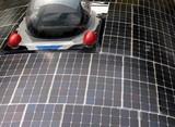 solar powered car poster