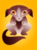 fluffy dog poster