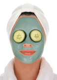 spa cucumber mud mask poster