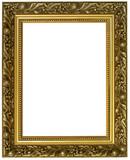horizontal golden frame poster