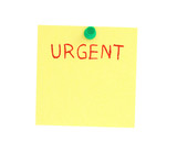 urgent post-it poster