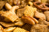 pecan snack mix background