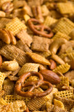 vertical pretzel snack mix background