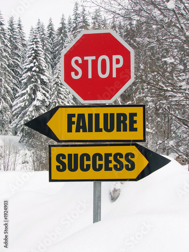 Photo: please chose: success or failure