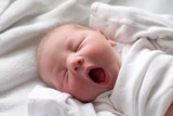 sleeping baby yawning