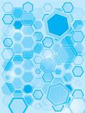 hexa gone flash blue poster