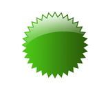 Fototapety aqua button badges