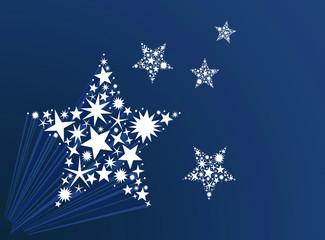 étoiles bleu