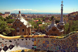 ceramic mosaic in park guell - Fine Art prints
