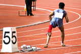 men's 200 meters race for disabled persons
