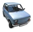 retro auto blau
