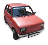 retro auto rot poster