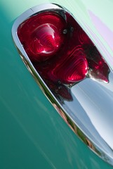 corvette taillight in mint green