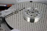 hard disk - binary on platter poster