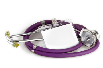 stethoscope and picture id