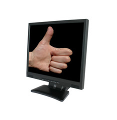 thumb up in lcd