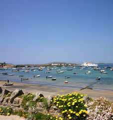 st. mary's harbour, isles of scilly, uk.