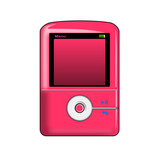 pink mp3 player poster