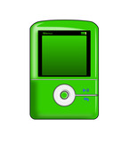 green mp3 player poster