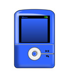 mp3 player blue poster