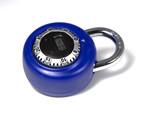 blue combination lock poster