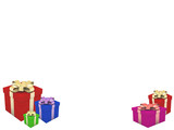 composition christmas gifts poster