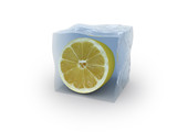 lemon on ice cube logo