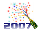 new year 2007 poster