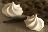 vanilla, coffe beans and dessert poster