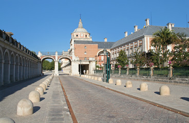 a sight of the palace of aranjuez, spain.