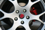 dirty sport car wheel poster