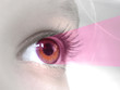 yeux rayon rose