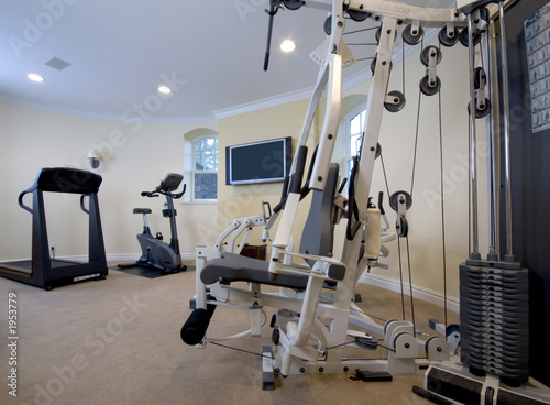 Leinwandbild Motiv home gym