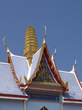 detail of buddhist temple poster