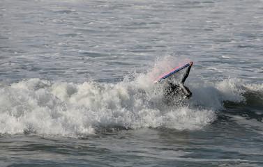 bodyboarder inside the wave
