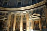 interior of pantheon wall frescos poster