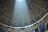 pantheon interior with shaft of light poster