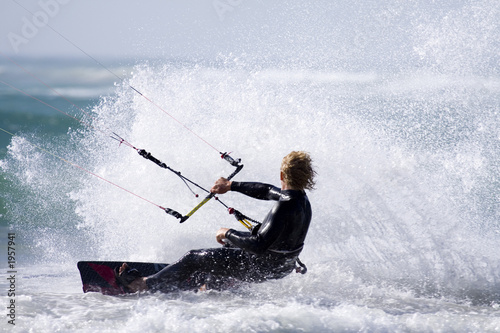 kitesurfer spray