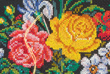 roses and needle with thread poster