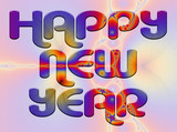 fractal background - happy new year poster