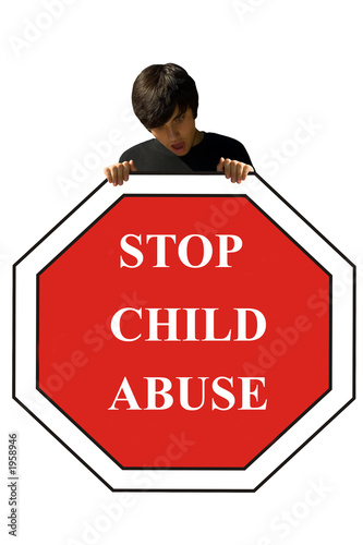 child abuse, stop sign